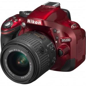 Aparat foto DSLR Nikon D5200, 24.1MP, Red + Obiectiv 18-55mm VRII