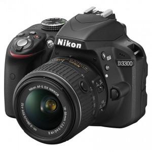 Aparat foto DSLR Nikon D3300, 24.2MP + Obiectiv 18-55mm VR II