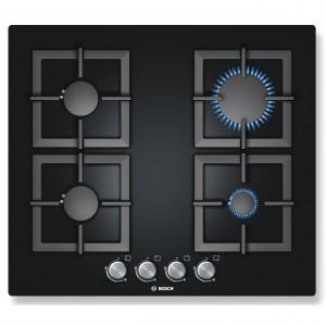 Plita incorporabila Bosch PPP616B21E, 4 arzatoare, gaz, negru