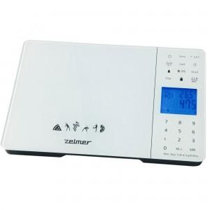Cantar de bucatarie Zelmer KS1700, 5 kg, Analizator alimentar, Alb