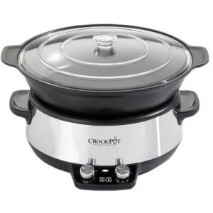 Slow cooker Crock-Pot CSC011X, 6 l, 2 Setari gatit, Functie pastrare la cald