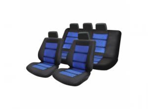 Set huse scaun Premium Lux albastru