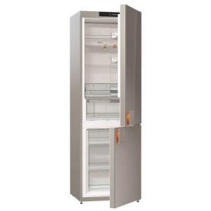 Combina frigorifica Gorenje Starck NRK612ST, Capacitate 329 l, Clasa A++, Gri