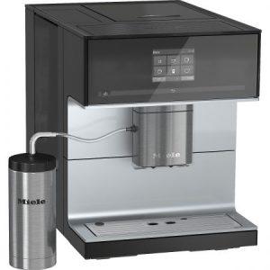 Espressor MIELE CM 7300, de sine statator, pe baza de cafea boabe, Negru